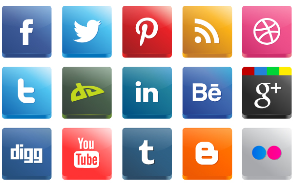 3D High Detail Social Media Icon Pack